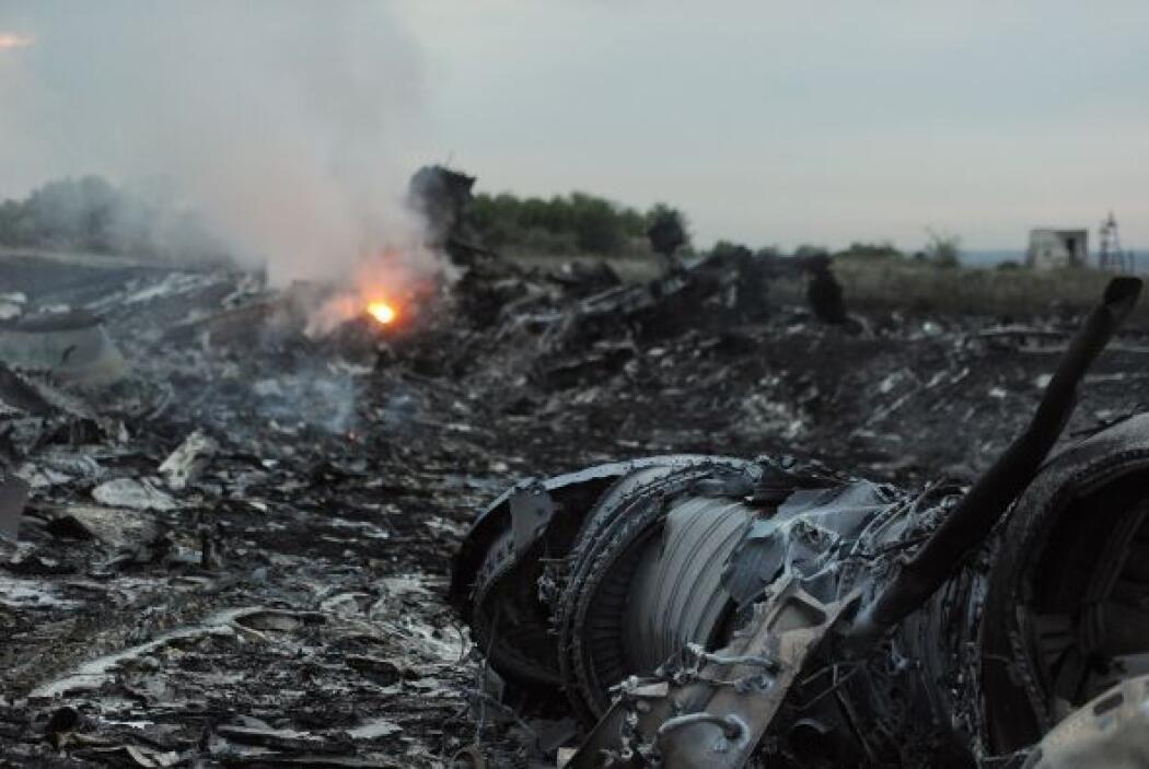 Se dijo también que los rebeldes ucranianos encontraron la caja negra de...