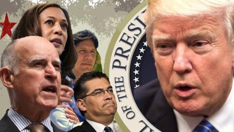 Los líderes de California verbalizan sus diferencias con Donald T...