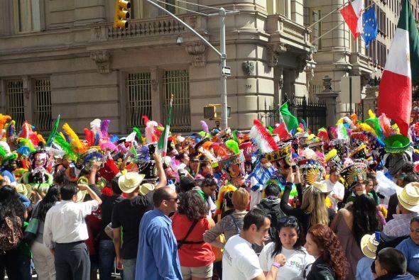 Los colores de la bandera mexicana inundaron la avenida Madison, en sept...