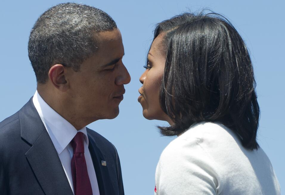 Michelle y Barack Obama: los amantes de la Casa Blanca GettyImages-14348...