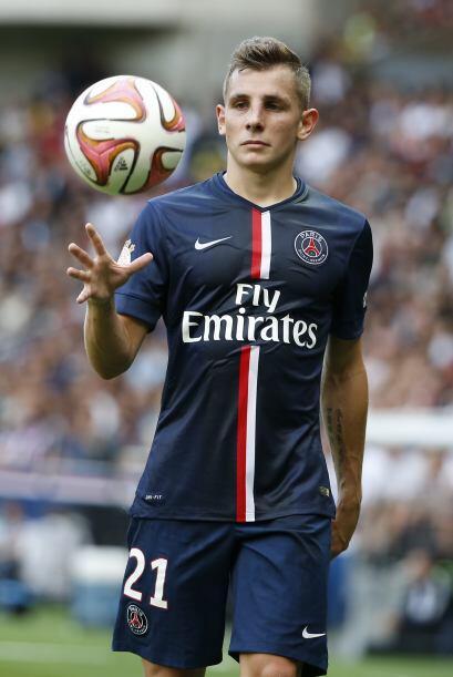 Lucas Digne   París Saint-Germain   Juega de lateral izquierdo en...
