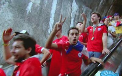 Así vivió Maity Interiano el recorrido al Maracaná para el partido Chile...