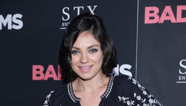 Mila en la presentación de su película 'Bad Moms' en Nueva York.