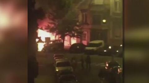 Ocho autos quedaron envueltos en llamas tras explosiones en Bélgica