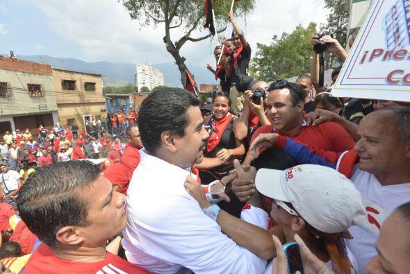 El chavismo marcha hoy por diferentes puntos de Caracas hacia el oeste d...