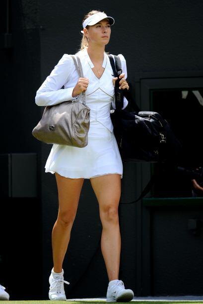 Como es costumbre, la rusa MAria Sharapova deleitó a más d...