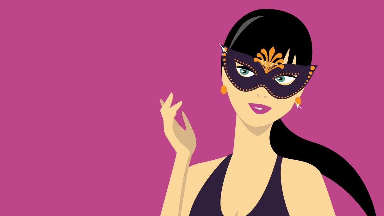Chica con máscara
