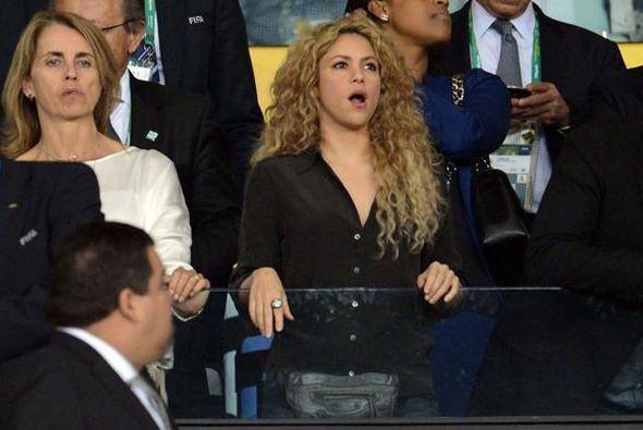 La colombiana llegó muy optimista al estadio Maracaná para apoyar a su a...