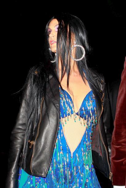Crawford decidió disfrazarse de la gran cantante Cher.