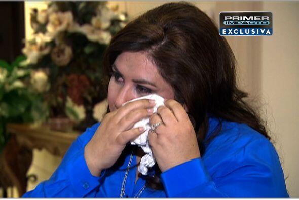 Durante la entrevista ella estallo en llanto al hablar del distanciamien...