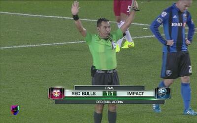 New York Red Bulls empató a uno contra Montreal Impact en CONCACAF Liga...