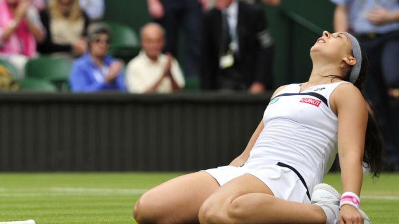 La francesa llegó a la final en Wimbledon 2013 derrotando a Flipkens.