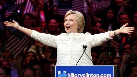 Hillary Clinton, aspirante a la nominación presidencial del Parti...