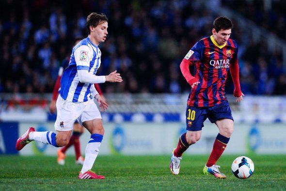 El Barcelona jugó contra la Real Sociedad en Anoeta y se llev&oac...