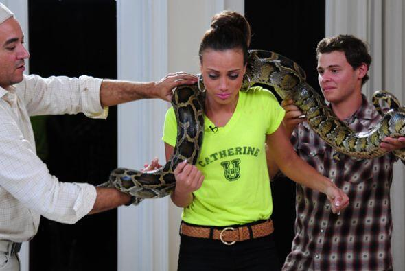 La boricua tiene miedo a las serpientes, y en su último reto, tuv...