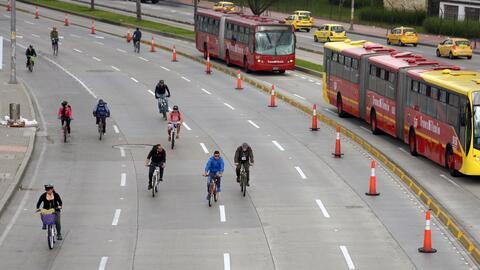 Bogotá ya realiza periodicamente días sin automóvil...