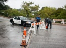 Las lluvias hacen peligrosos los caminos en Texas.