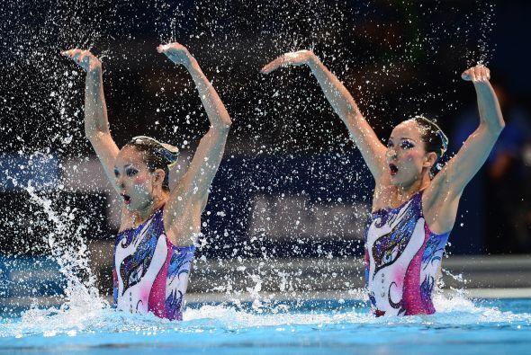 La plata fue para China, con magistral actuación de Tingting y Wenwen Ji...