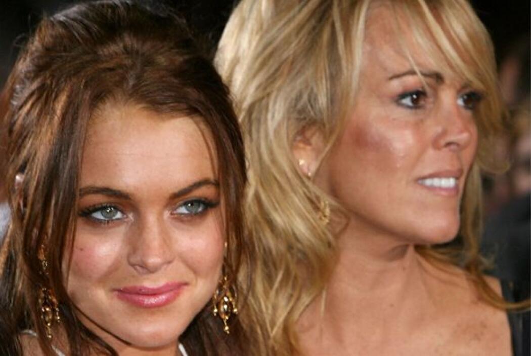 La cantante y actriz Lindsay Lohan y su mamá Dina no son el mejor ejempl...