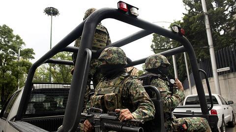Un vehículo de las fuerzas federales patrullando en julio de 2013.