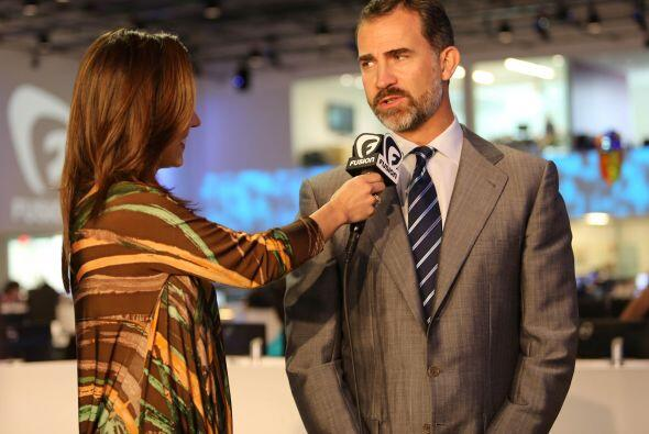 El príncipe de Asturias, durante una entrevista para el canal Fus...