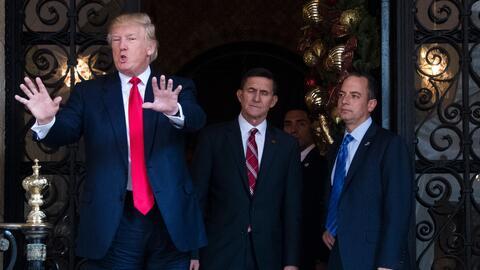 Donald Trump se retiró a su residencia de Mar-A-Lago, Florida, para pasa...