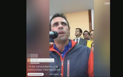 """Henrique Capriles: """"En Venezuela se dio un golpe de Estado"""""""