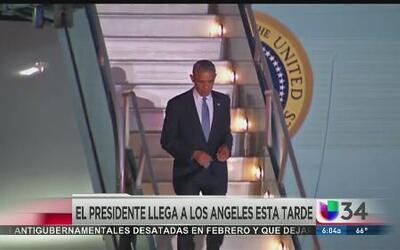 Obama en Los Ángeles hoy al mediodia