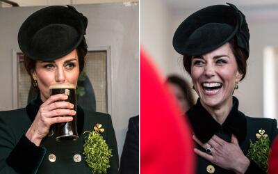 Kate Middleton tomando Guinness