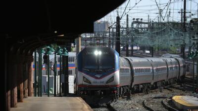Tren de Amtrak (foto de archivo)