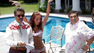 Los actores mexicanos Jorge Ortiz de Pinedo, Ana Bekoa y Carlos Bonavide...