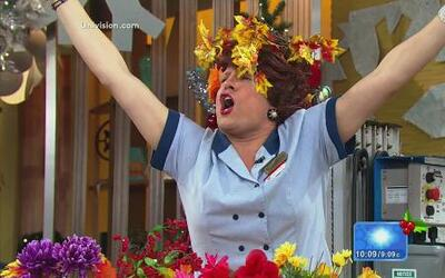 Doña Meche llegó triunfante luego de su 'crossover' con Gerard Butler