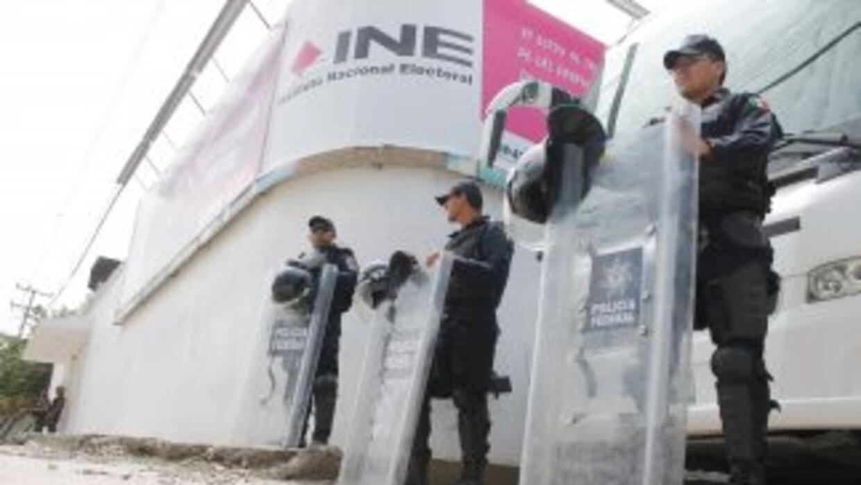 Instalaciones del INE bajo estrecha vigilancia en Guerrero.