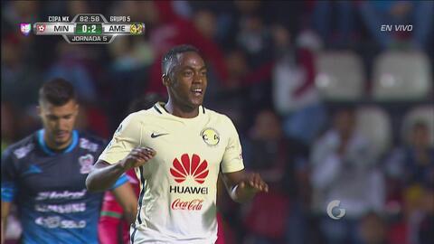 Contragolpe mortal de América para que Renato Ibarra marque el segundo