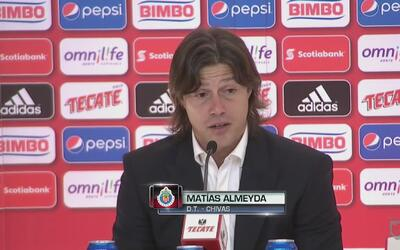 Matías Almeyda: 'El equipo dejó el alma en la cancha'