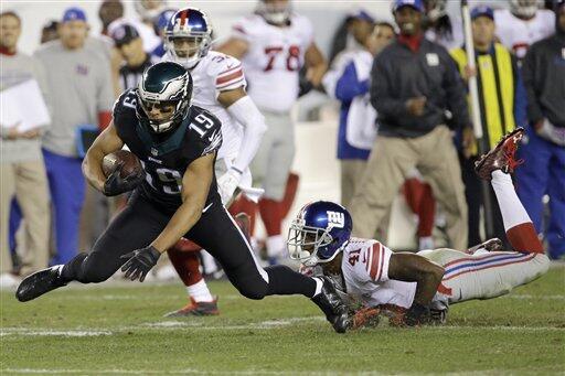 Los Eagles consiguieron quitarle las aspiraciones a los Giants de poners...
