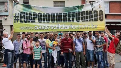 Santos de Brasil invita a refugiados sirios a su partido
