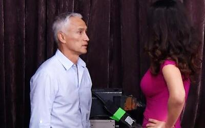 Jorge Ramos visitó a Chiqui en Mira Quién Baila