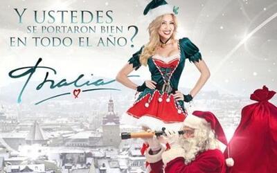 Thalía ya comenzó a festejar la navidad, hasta se pusó creativa y nos cu...