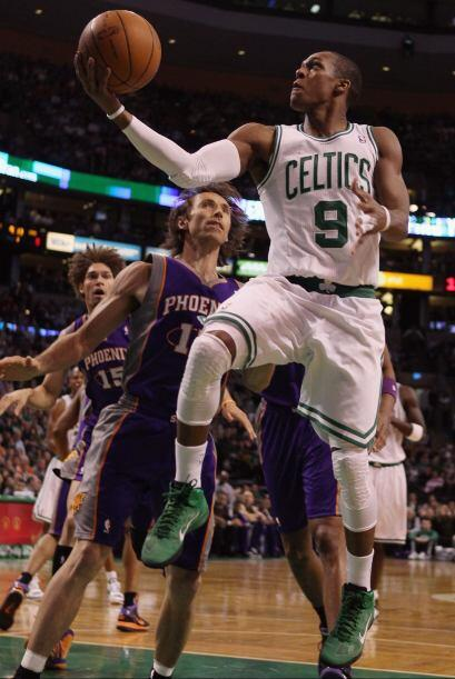 9. El guardia Rajon Rondon de los Boston Celtics.