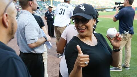 Vicky Aguilera realizó un excelente lanzamiento en el juego. Mira...