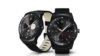 El G Watch R es circular y tiene un estilo retro muy atractivo.