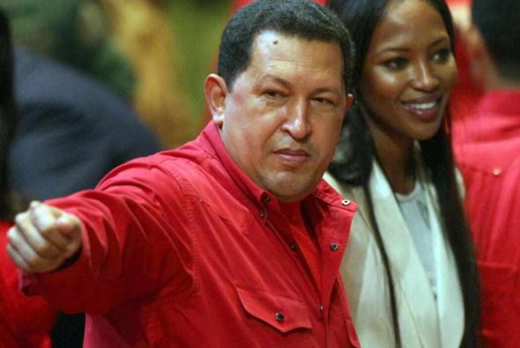 Naomi Campbell. La supermodelo británica llegó a Caracas en octubre de 2...