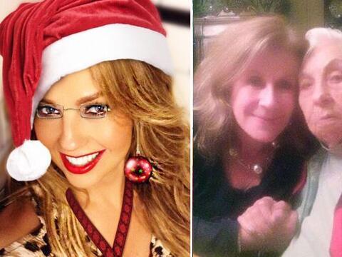 Los actores de telenovela festejaron la Navidad en compañí...