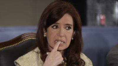 La presidenta argentina,Cristina Fernández viuda de Kirchner.