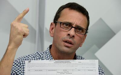 Henrique Capriles, líder opositor y gobernador del estado Miranda en Ven...