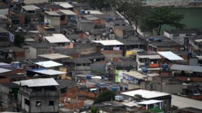 Vista aérea de una favela brasileña.