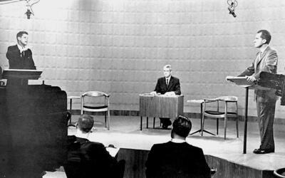 Nixon y Kennedy el 26 de septiembre de 1960.