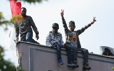 Migrantes africanos (archivo).