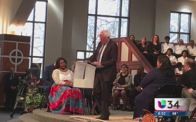 Iglesia bautista en Atlanta realiza un servicio conmemorativo a Martin L...